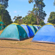 Colorful tent on the camping ground — Stock Photo #40591937