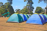 Colorful tent on the camping ground — Stockfoto