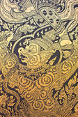 Traditional Thai style art gold painting pattern on the door — Stock Photo