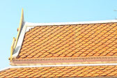 Temple roof tile in thai style — Stock Photo