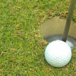 图库照片: Golf ball on grass