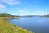 Views over the reservoir Kaengkrachan dam — Stock Photo