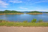 Views over the reservoir Kaengkrachan dam — 图库照片