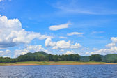 Views over the reservoir Kaengkrachan dam — Stock Photo
