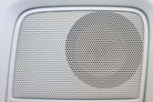 Car speaker on door panel — Stock Photo
