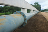 old Water Pipeline on the Bridge  — Foto Stock