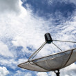 The Satellite dish on the roof With Blue Sky — Stock Photo