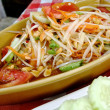 Thai papaysalad also known as Som Tum in Thailand. — Stock Photo #27160341