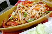 Thai papaya salad also known as Som Tum in Thailand. — Stock Photo