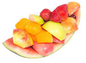 Variety of fresh fruit that ready to eat — Stock Photo