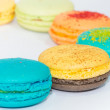 Traditional french colorful macarons isolated on white background — Stock Photo #31148981