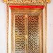 Stock Photo: Buddhism's Church door at WAT PO Bangkok. most famous te