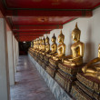 Stock Photo: Bueatiful buddhsculptures at Wat Po on November in Thailan