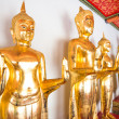 The Bueatiful buddha sculptures at Wat Po on November in Thailan — Foto Stock
