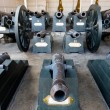The group of historical old cannons in Thailand — Stock Photo