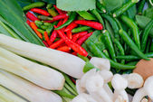 Traditional Vegetables for food in Thailand — Stock Photo