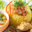 Chicken Rice Curry With Coconut called Koa Mook Gai — Stock Photo