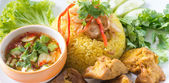 Chicken Rice Curry With Coconut called Koa Mook Gai — Стоковое фото