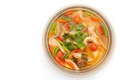 Vegetarian Thai Food mushroom tom yum soup — Stock Photo