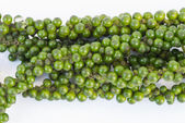 Bunches of fresh green piper nigrum on white background — Stock Photo