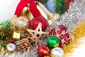 Décoration de Noël sur fond blanc — Photo