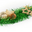 Christmas decorations and ornaments isolated — Stock Photo