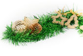 Christmas decorations and ornaments isolated — Stockfoto