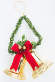 Bell Christmas ornaments decorations isolated — Stockfoto