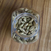 Cardamom seeds in a jar — Stock Photo