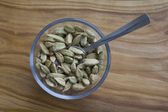 Cardamom seeds in a bowl — Stock Photo