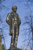 Monument to Alexander Pushkin in Ostafyevo estate, Moscow region — Photo