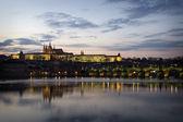 Prague Castle at night, Czech Republic — Stock Photo