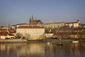 View of Mala Strana and Prague castle over Vltava river. Prague, — Stock Photo