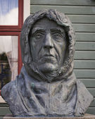 Roald Amundsen, a monument in  Tromso, Norway — Stock Photo