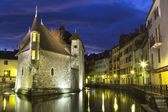Castle in Annecy at night.  — Stock Photo