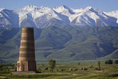 Ancient Burana tower located on famous Silk road, Kyrgyzstan — Stock Photo