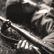 Dead soldier — Stock Photo