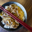 Japanese style pork and rice — Stock Photo