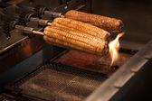 Corn cooking at Night market — Stock Photo
