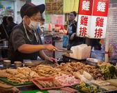 Night market food — Stock Photo