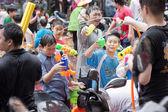 People celebrating Songkran in Taiwan — Stock Photo
