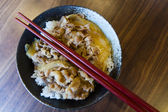 Japanese style pork and rice — Foto Stock