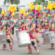 Stock Photo: Costumed revelers march with floats in annual Dream Parade o