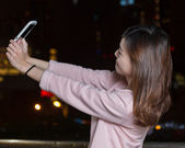 Attractive Asian Woman Taking a Selfie with Cell phone — Stock Photo