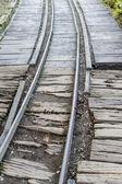 Narrow gauge railway line — Stock Photo