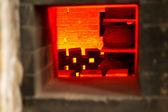 Old Pottery Kiln Firing — Foto Stock