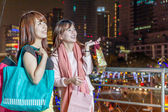Two Asian Friends Out Shopping — Stock Photo
