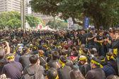 台北,台湾,2014 年 3 月 30 日。数以十万计的人 p — 图库照片