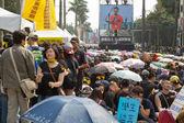 Taipei, taiwan, 30 de março de 2014. centenas de milhares de pessoas p — Fotografia Stock
