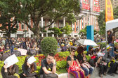 TAIPEI, TAIWAN, March 30 2014. Hundreds of thousands of people p — Stock Photo